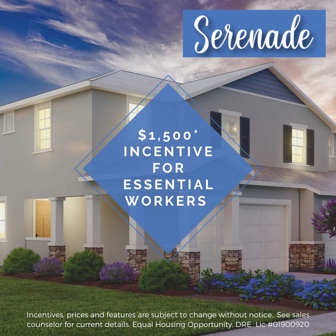 Serenade Elk Grove Essential Worker Incentive